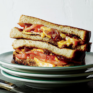 Tomato Grilled Cheese with Beer and Bacon Marmalade