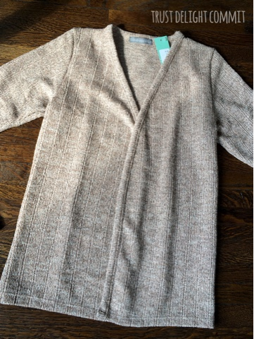 Stitch Fix Review September 2015, cardigan
