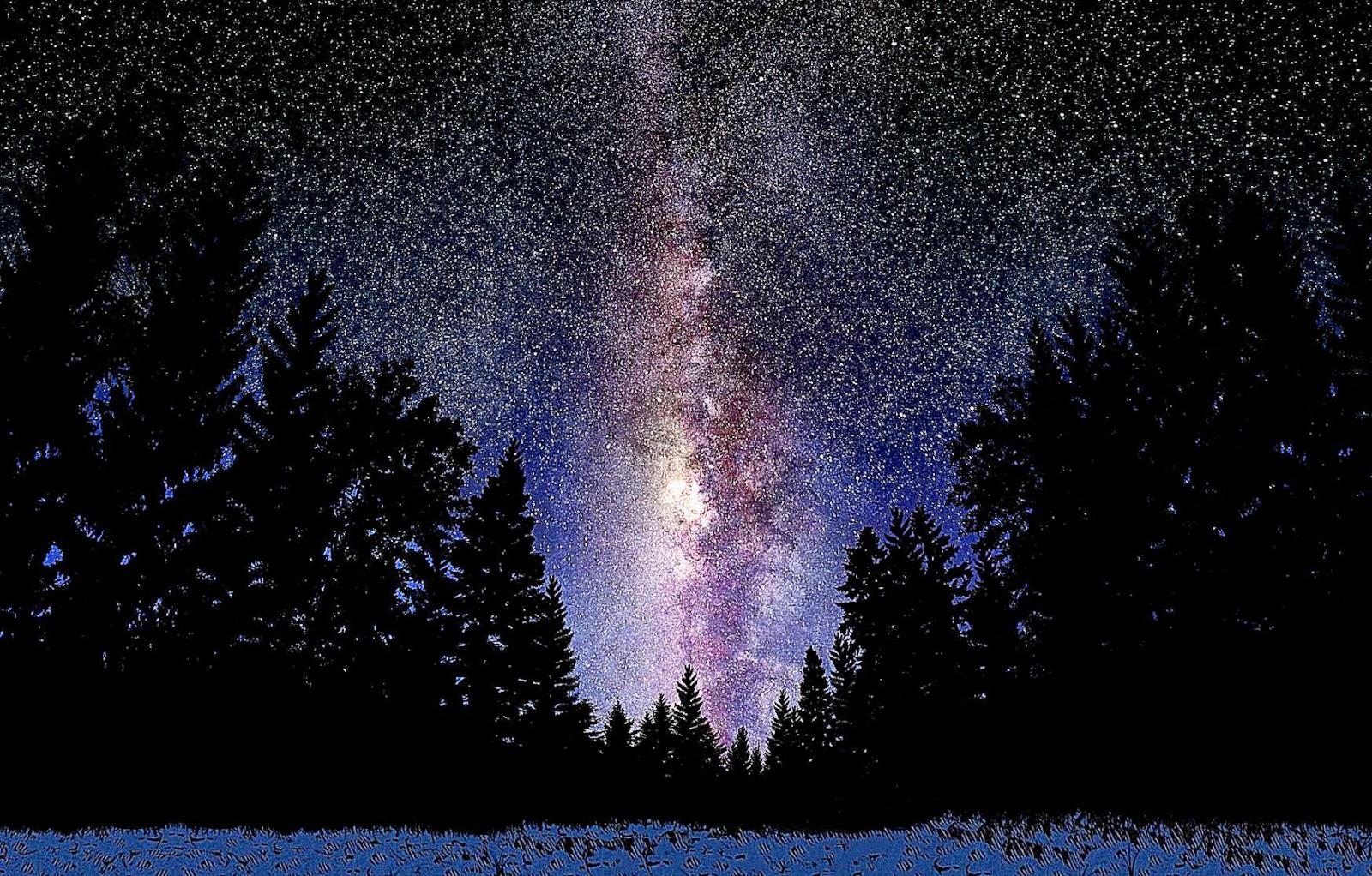 Milky way hd wallpaper cool hd wallpapers - Space night sky wallpaper ...