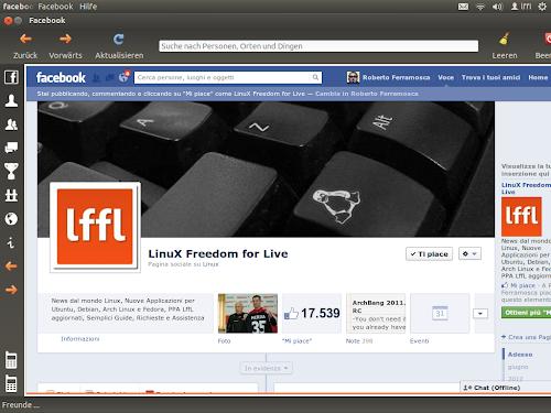 Facebook Desktop App su Ubuntu 12.04