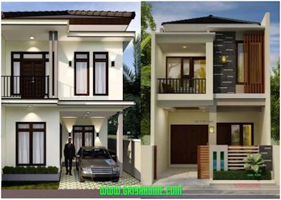 Desain Rumah Minimalis 2 Lantai.