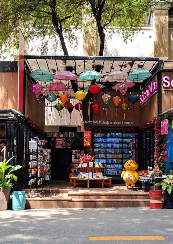 famous bookstore saigon vietnam