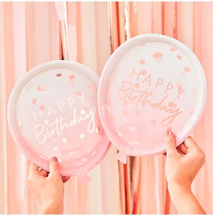 Tallrikar ballong rosa - Mix it up