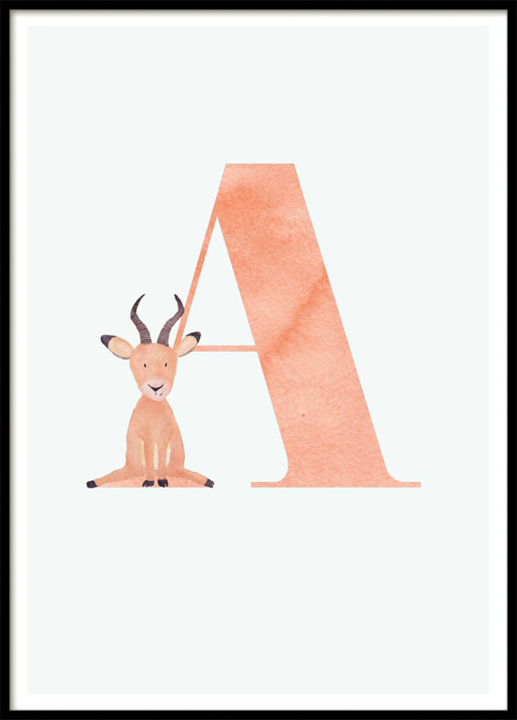 Letter A, Poster