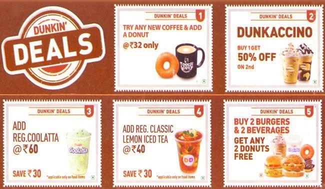 Dunkin' Donuts menu 5