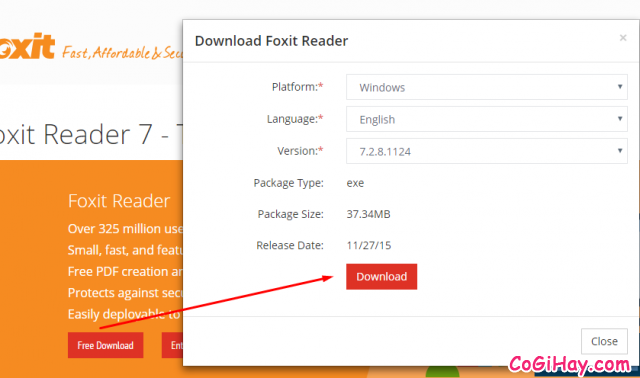 tải foxit reader - tải pdf reader