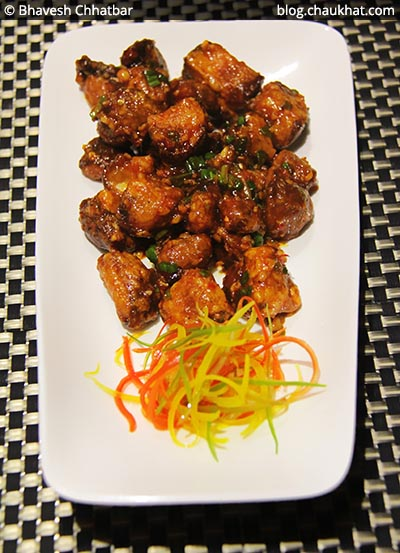 Chilli Garlic Mushrooms at SocialClinic Restobar in Koregaon Park area of Pune