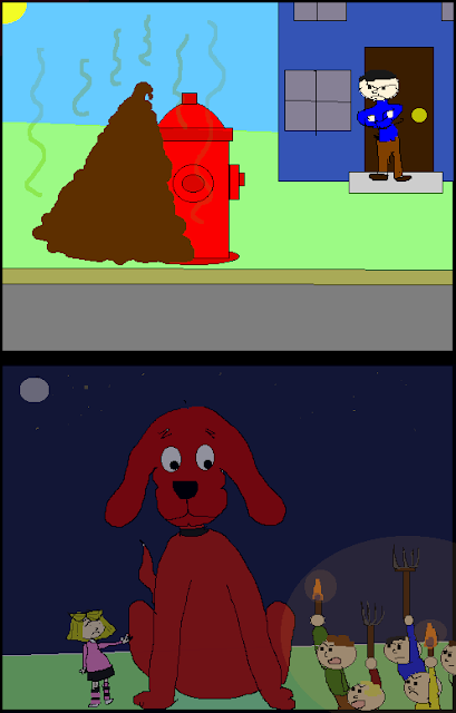 Turbosloth - Clifford the Big Red Dog Leaves a Big Brown Pile