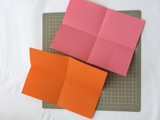 start by folding a 8.5 x 11 sheet of paper horizontally and vertically