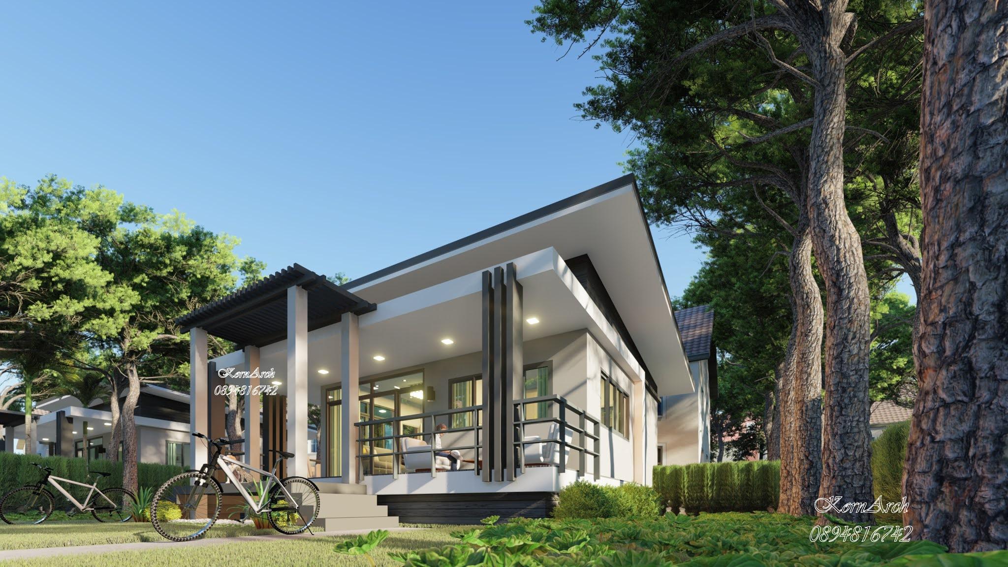 รับออกแบบบ้านพักตากอากาศ  เจ้าของอาคารคุณกนกกานต์ สิงห์คะ  สถานที่ก่อสร้าง ต.สะพานไม้แก่น อ.จะนะ จ.สงขลา