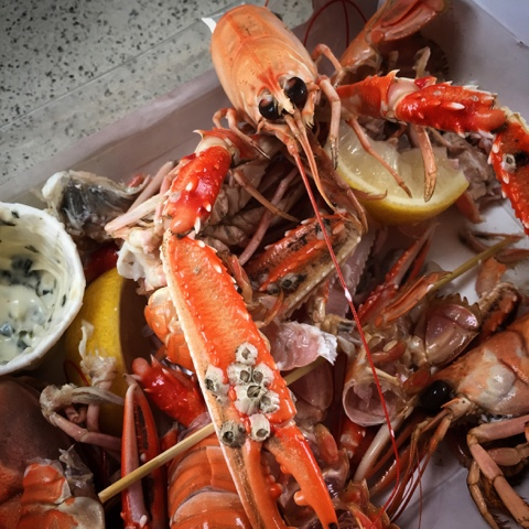 Smoked Langoustines. East Pier Smokehouse, St Monans - #LoveFife Chocolate, Seafood and Gin in the East Neuk