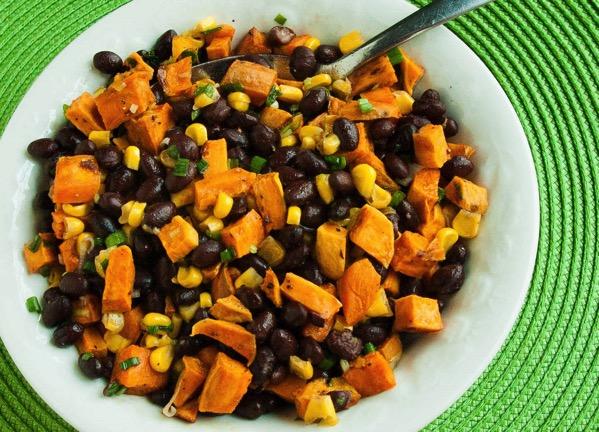 Sweet Potato Black Bean and Corn Salad