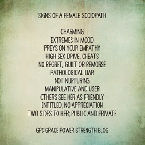 Gps Grace Power Strength Is She A Sociopath 20 Signs