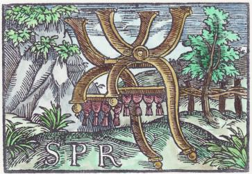 Woodcut 12 From The Prognostications Of Paracelsus, Emblems Related To Alchemy