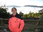 Pep Alcacer y el mar de nubes, en el albergue de Montofalcó