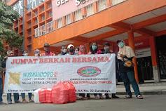 Media Nuswantoro Pos Bagikan Nasi Kotak Bersama Lembaga Swadaya Masyarakat Laskar Suramadu Jawara Dalam Program Jumat Berkah