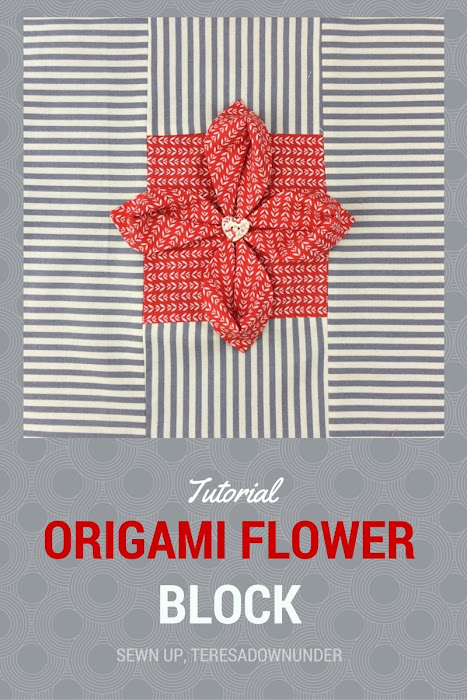 Video tutorial: Origami flower quilt block