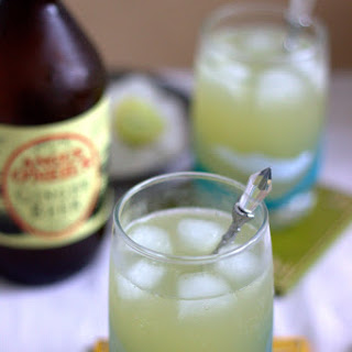 Pineapple Juice and Ginger Beer Mocktail