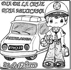 21 de febrero día de la cruz roja mexicana dibujos para colorear