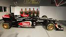 Nicolas Prost, Davide Valsecchi, Kimi Raikkonen, Romain Grosjean & Jerome D'Ambrosio Lotus E21 launch