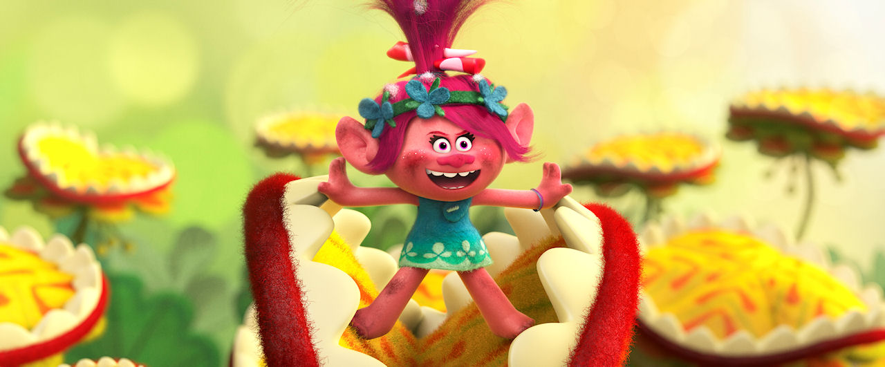 Troll princess Poppy (voiced by Anna Kendrick)  in DreamWorks Animation's TROLLS. (Photo courtesy of DreamWorks Animation)
