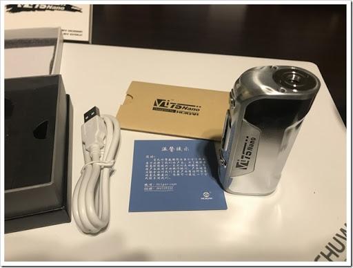 IMG 5890 thumb - 【DNA搭載モデル】Hcigar VT75 Nanoレビュー!小さくて可愛いお手軽ハイエンド機!立ち上がりの速さはさすがなので1台は持っておきたいMODのひとつ?