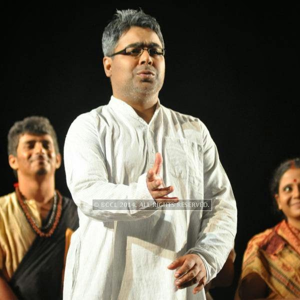 Mir during the staging of a play, Buddhijibi, held at Academy of Fine Arts, in Kolkata.