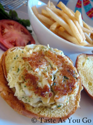 Jumbo Lump Crab Cake Sandwich at the Tap Room at the Historic Hotel Bethlehem in Bethlehem, PA - Photo by Michelle Judd of Taste As You Go