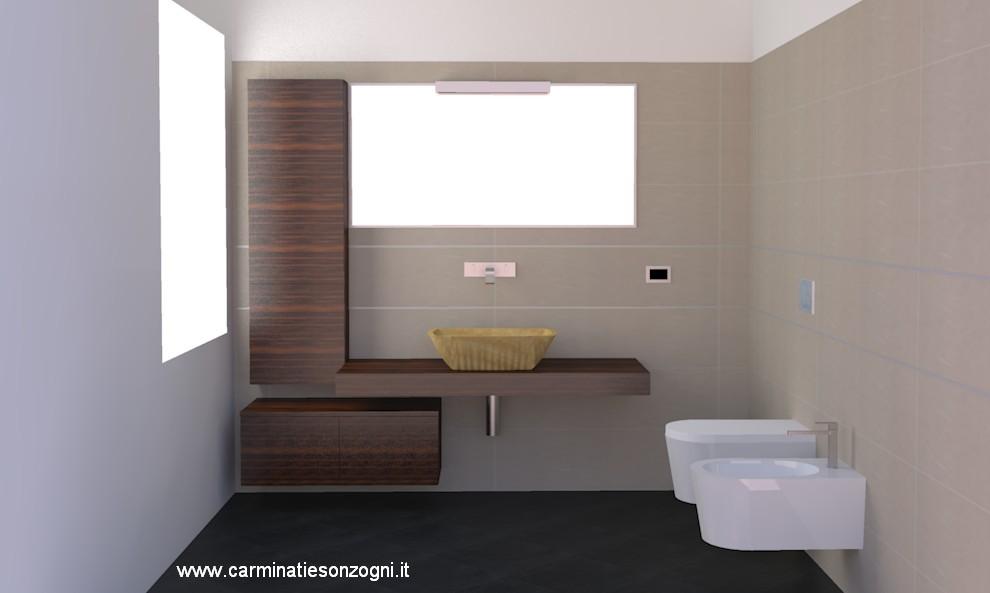 Progettazione arredamento con rendering 3dcarminati e sonzogni - Progetto bagno 3d gratis ...