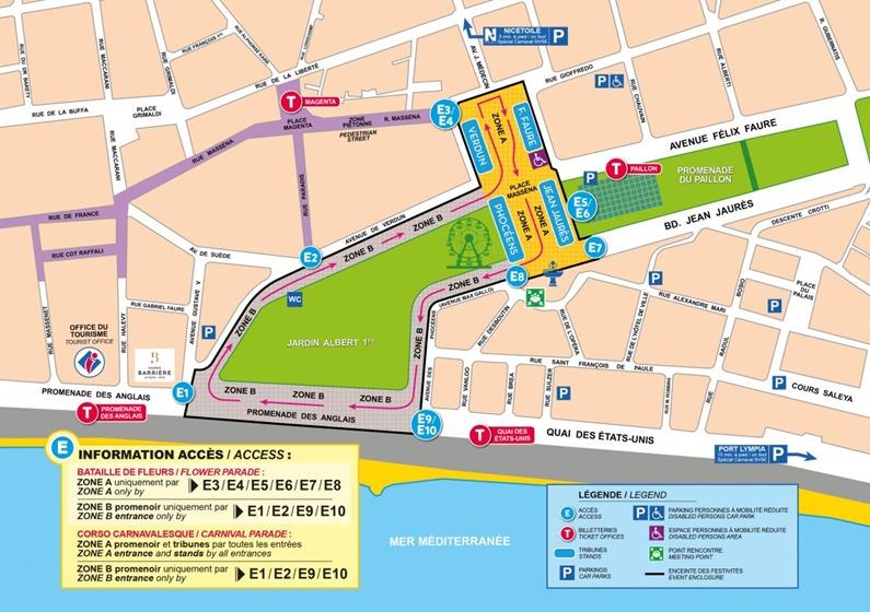 Carnaval de Nice plan 2018