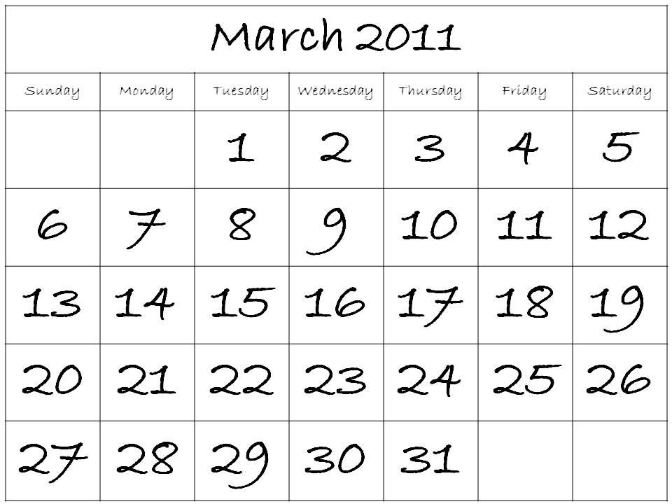 printable calendar 2011 canada. Free Printable Calendar 2011