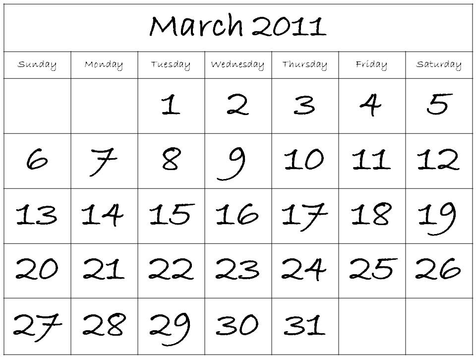 free printable calendars for march 2011. free printable lined paper for
