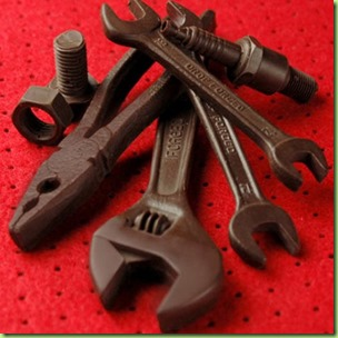 chocolate valentines tools