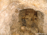 At the very back and bottom of the mine is another ore chute.