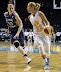 Lindsay Whalen #13 guards Courtney Vandersloot #22 (WNBA:  Chicago Sky 83 vs. Minnesota Lynx 70, Allstate Arena, Rosemont, Illinois, September 11, 2012)