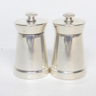 Sterling Silver Pepper Grinder Pair #2