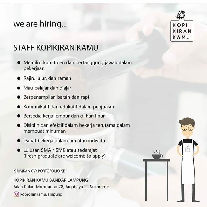 Lowongan Kerja Kopikiran Kamu Bandar Lampung Karir Bandar Lampung