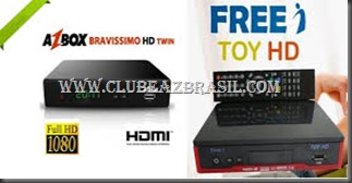 AZBOX BRAVISSIMO EM FREEI TOY HD
