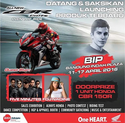 Launching Honda All new CBR 150R bandung
