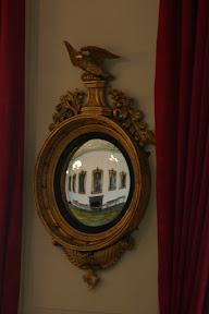 Concave mirror in dining room, Dublin Castle
