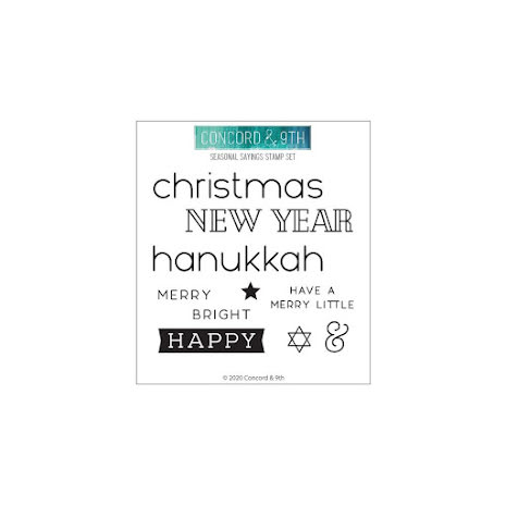 Concord & 9th Clear Stamps 4X4 - Seasonal Sayings