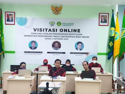 Bina Insani University Jalani Visitasi Akreditasi Online