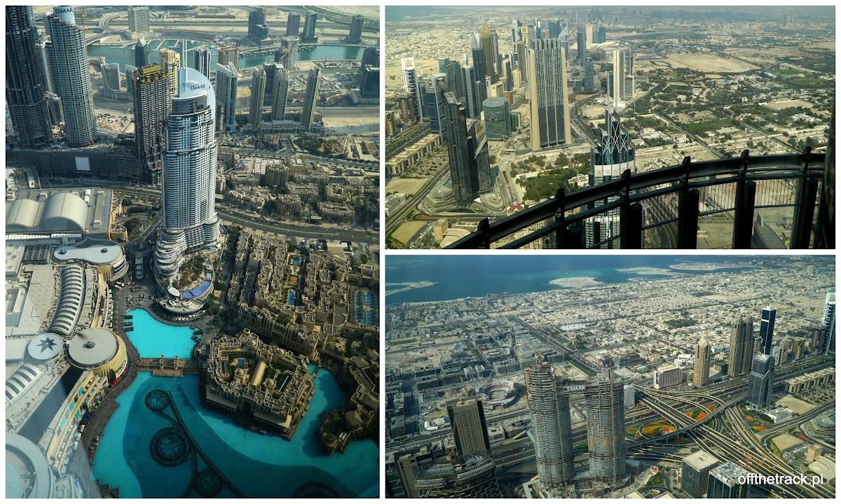 Widok z Burj Khalifa w Dubaju, Zjednoczone Emiraty Arabskie