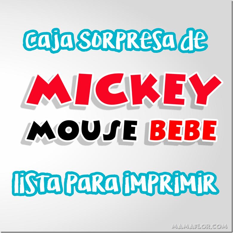 Molde Mickey Mouse Bebé: Imprimible Caja Sorpresa