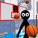 Stickman Teacher. Basketball Basics icon