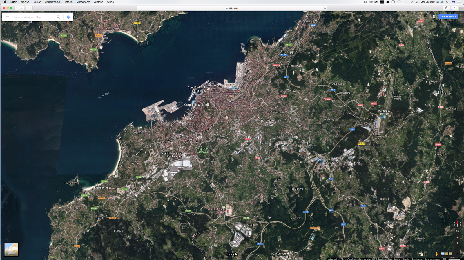 Chrome Maps on