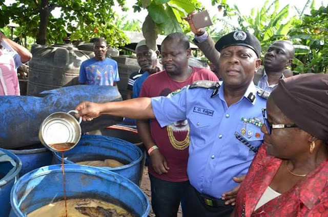 Lagos State police command uncovered an illegal brewery where fake malt are produced.