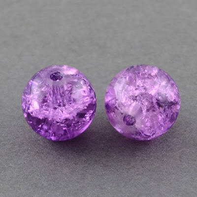 Crackle Glass Beads from Panda Hall