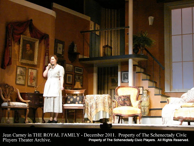 Jean Carney in THE ROYAL FAMILY - December 2011.  Property of The Schenectady Civic Players Theater Archive.