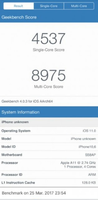 iPhone 8 Allegedly Knocks Out The Galaxy S8 In New Geekbench Leak 1